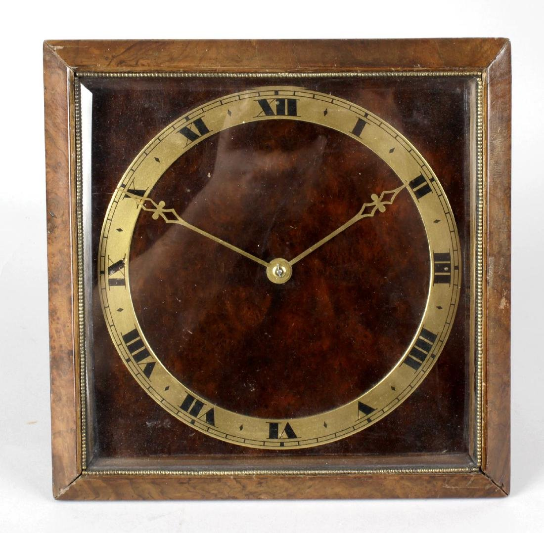 An early 20th century easel style mantel clock, the