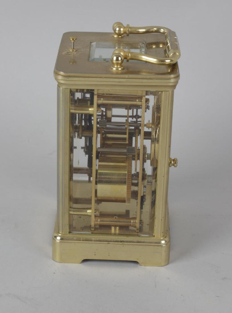 A Halcyon Days enamel repeater carriage clock. The - 2