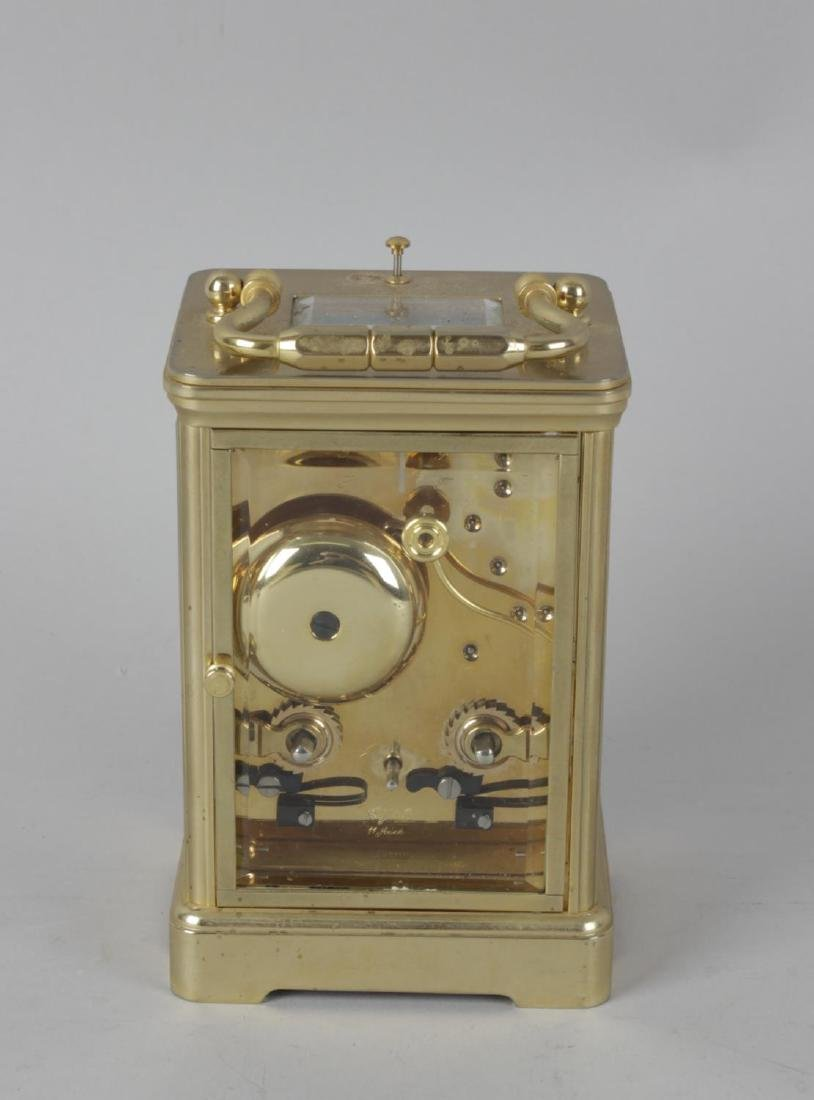 A Halcyon Days enamel repeater carriage clock. The - 3