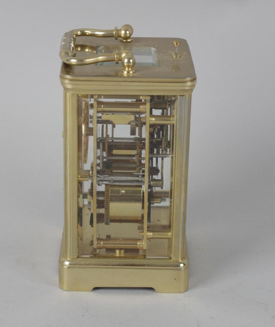 A Halcyon Days enamel repeater carriage clock. The - 4