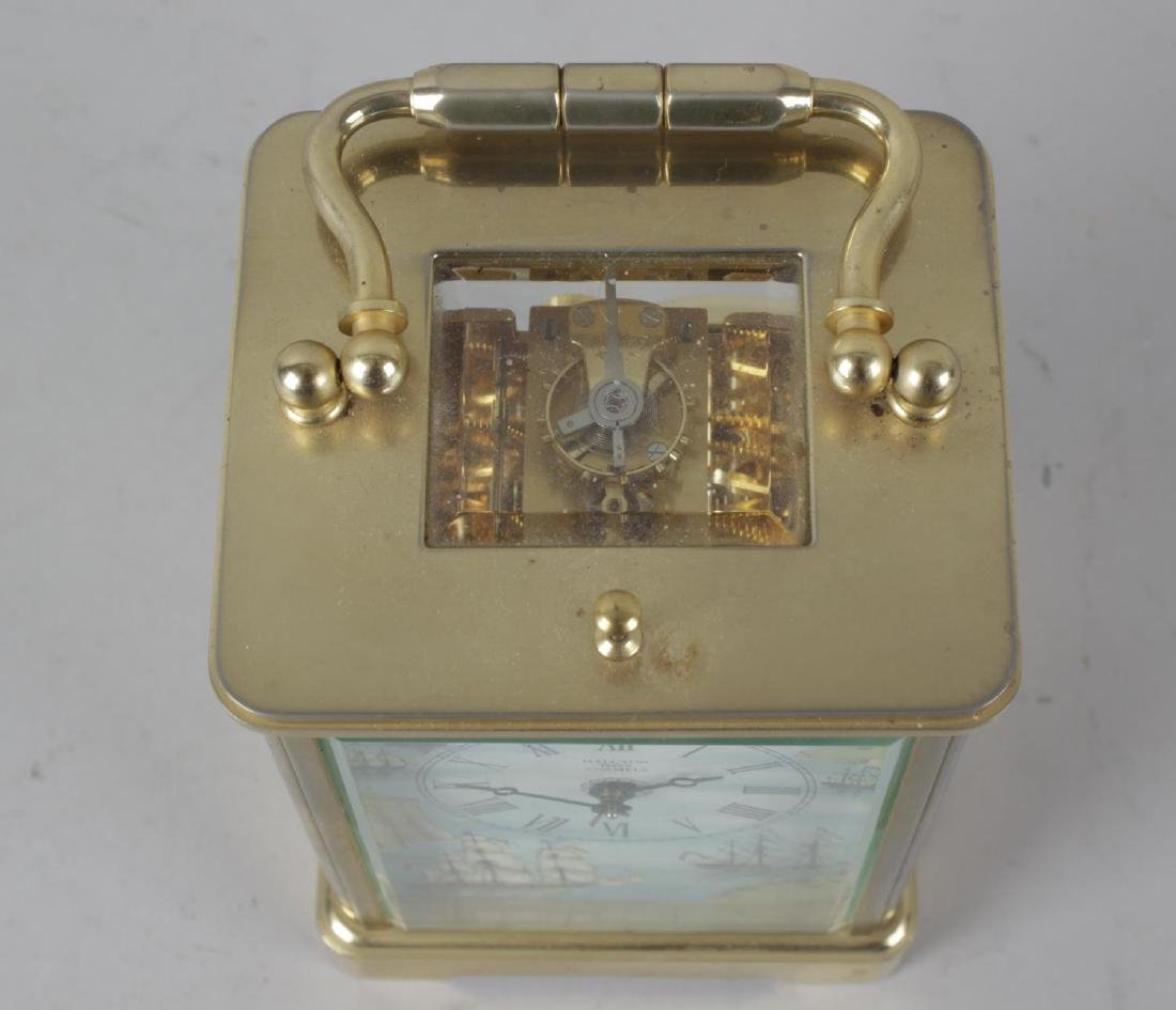 A Halcyon Days enamel repeater carriage clock. The - 5