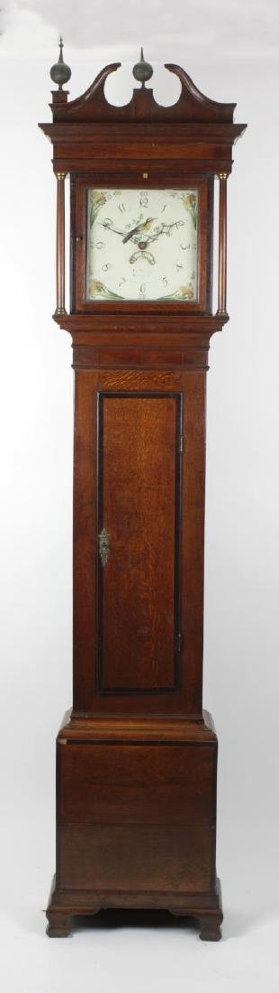 An early 19th century oak and mahogany-cased 30-hour