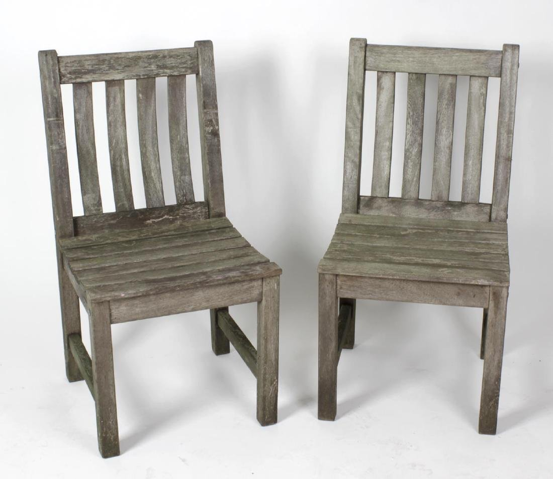 A set of six 'Bridgman' oak garden chairs, to include