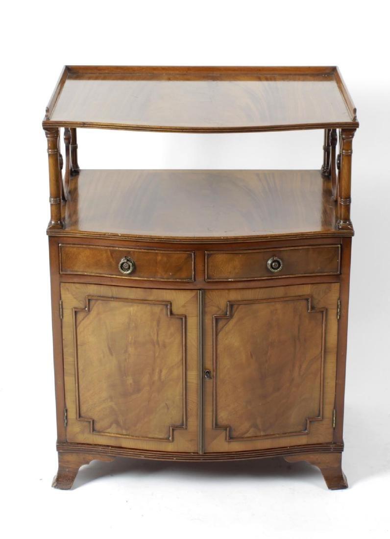 A Titchmarsh & Goodwin reproduction mahogany veneered