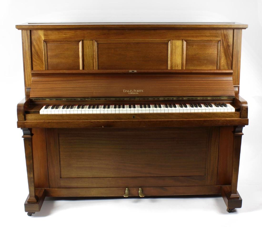 A Dale, Forty & Co mahogany cased upright piano, the
