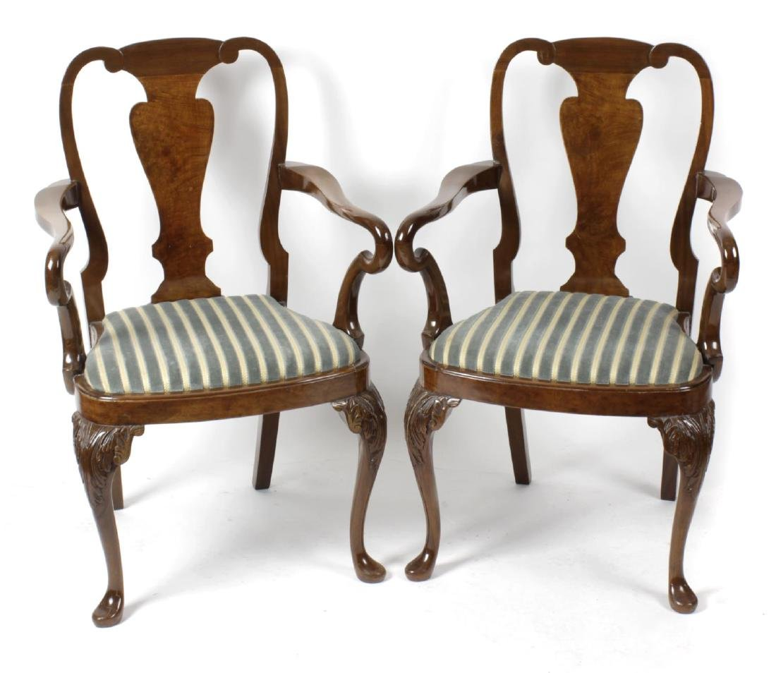A mixed collection of furniture to include a George II