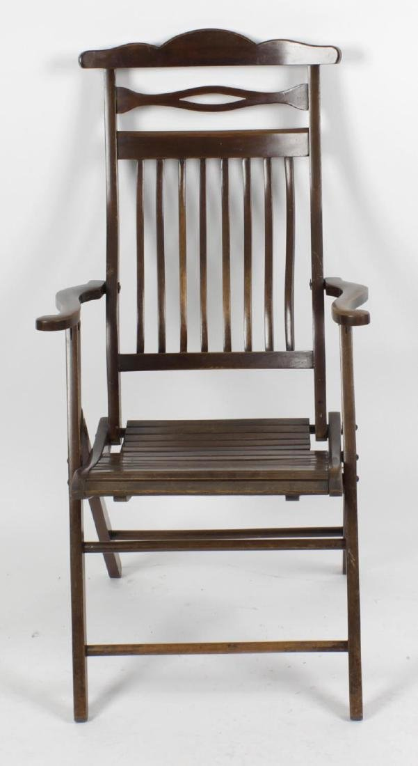 Two early 20th century chairs, comprising: a folding