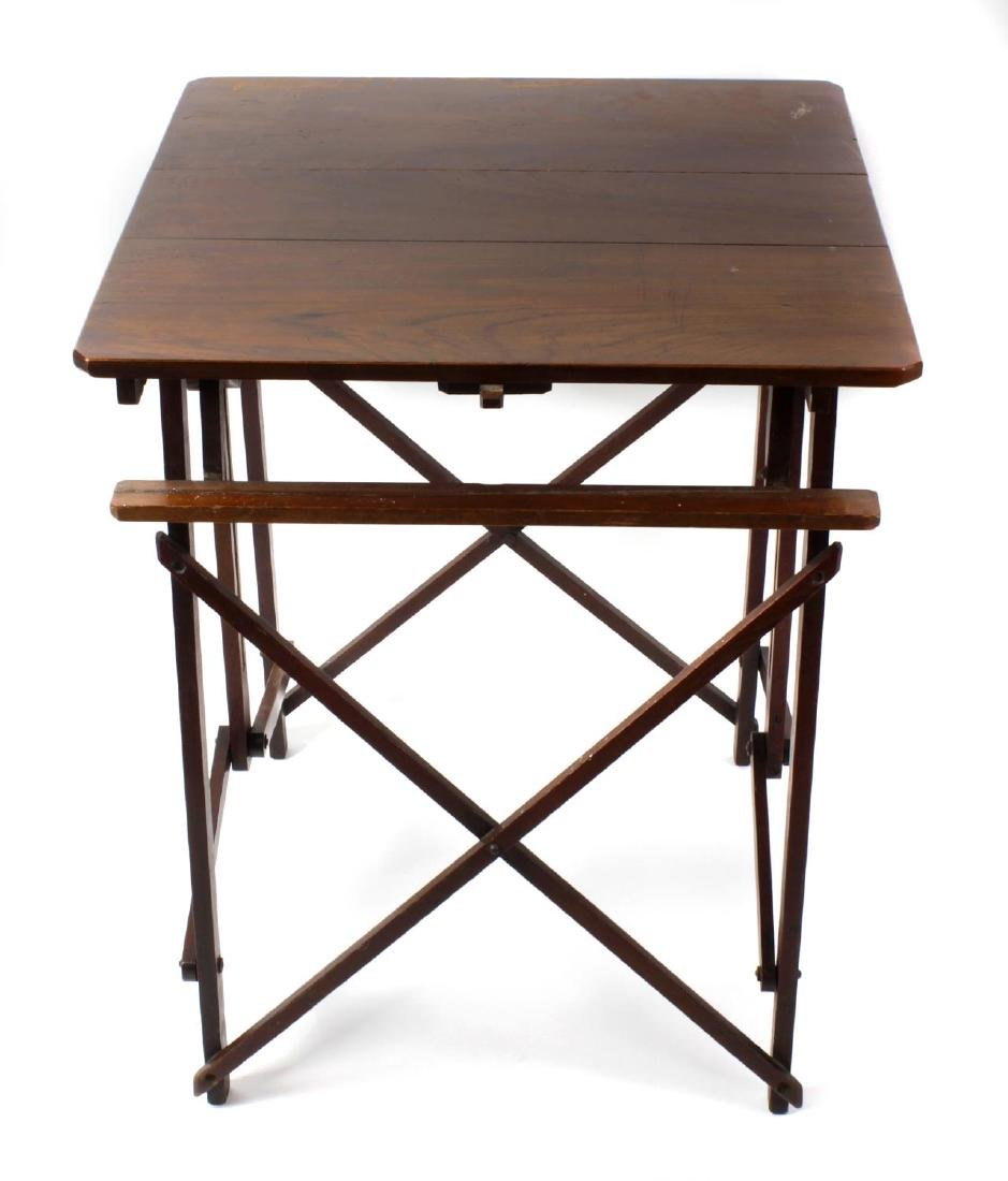 A late Victorian patent teak metamorphic folding table.