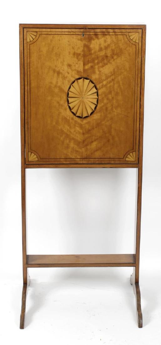 A late Victorian/Edwardian lady's inlaid satinwood