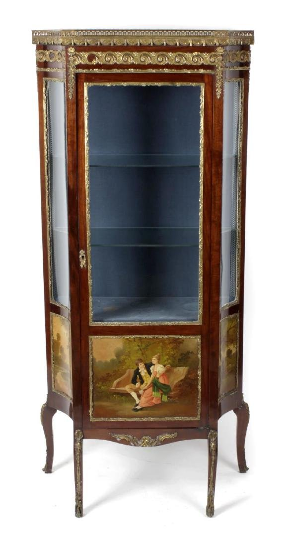 A 20th century 'Vernis Martin' style vitrine cabinet.