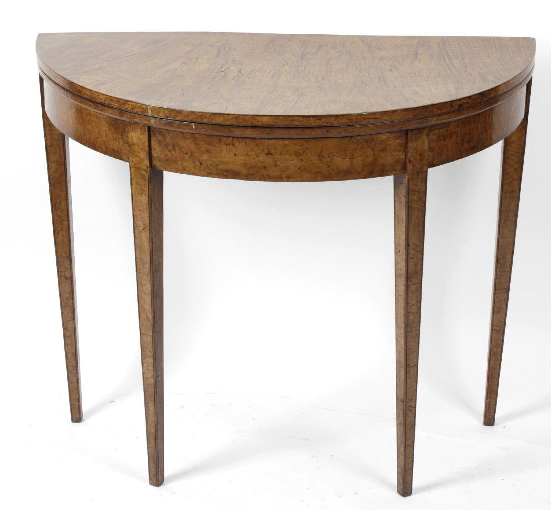An unusual late George III elm- and walnut-veneered