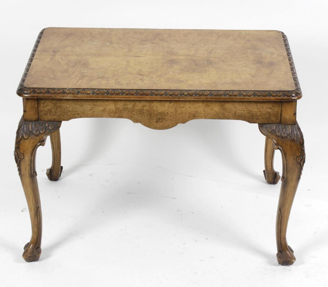 A 20th century burr walnut occasional table. The