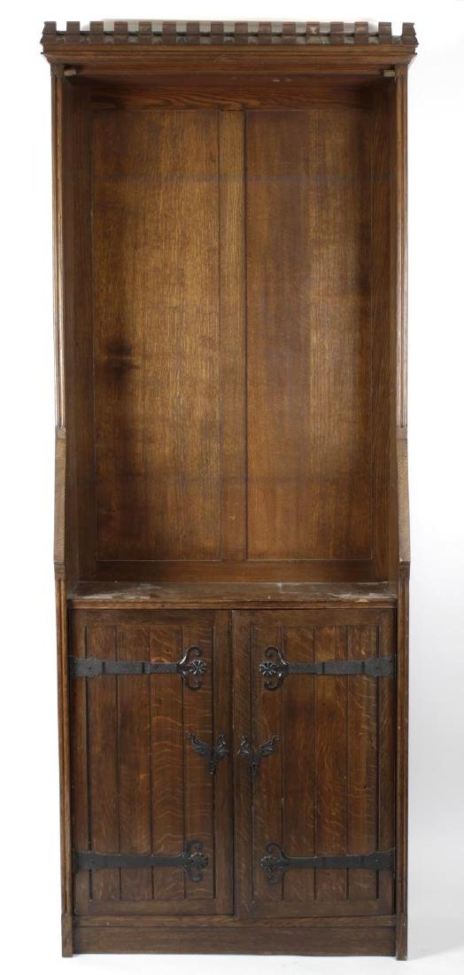 A Victorian Aesthetic style oak bookcase. The