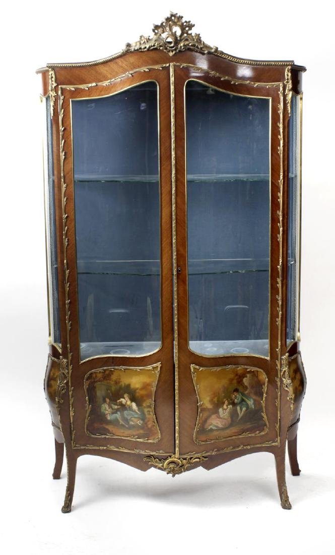 A 20th century 'Vernis Martin' style bombe vitrine