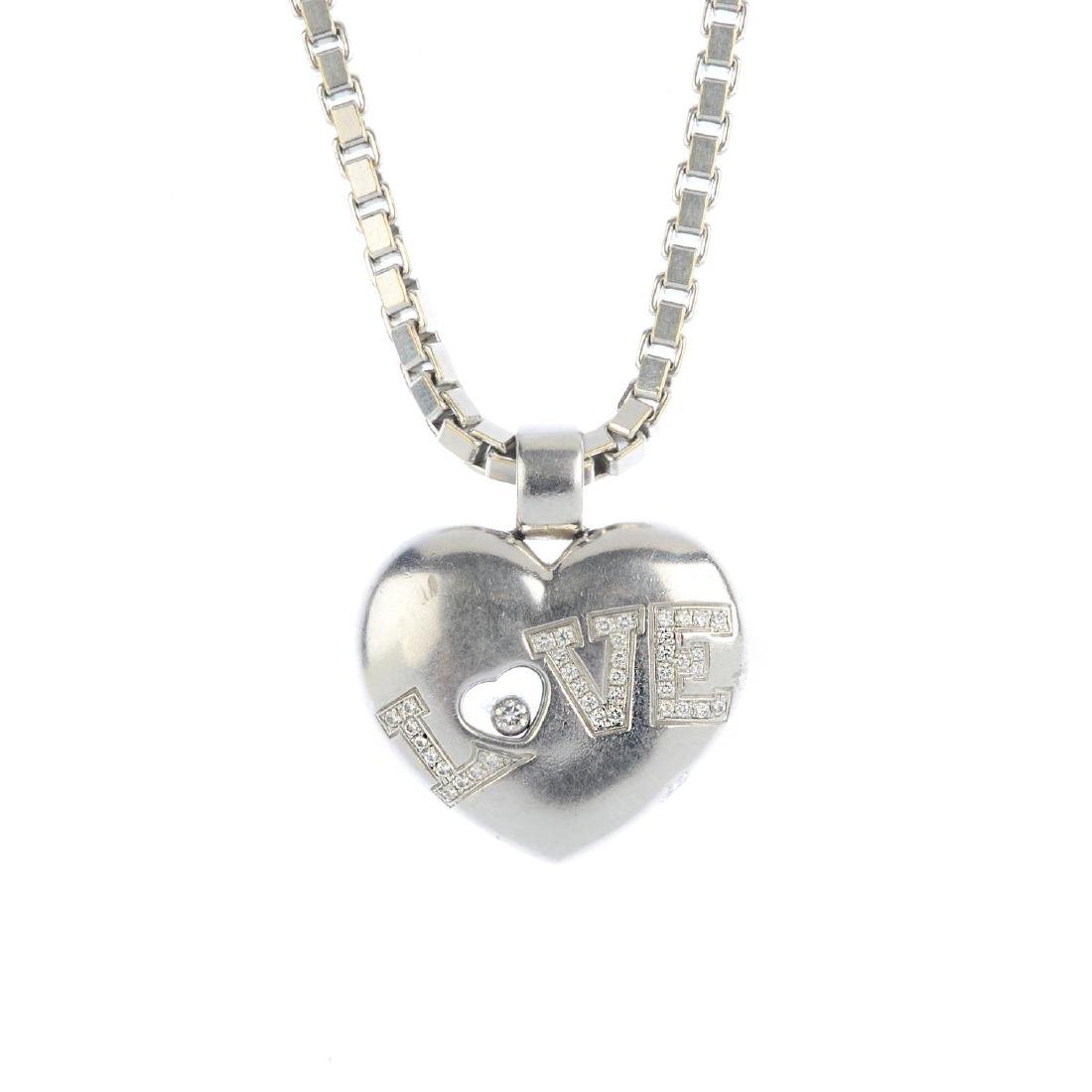 CHOPARD - a 'Happy Diamonds' 'Love' heart pendant. With