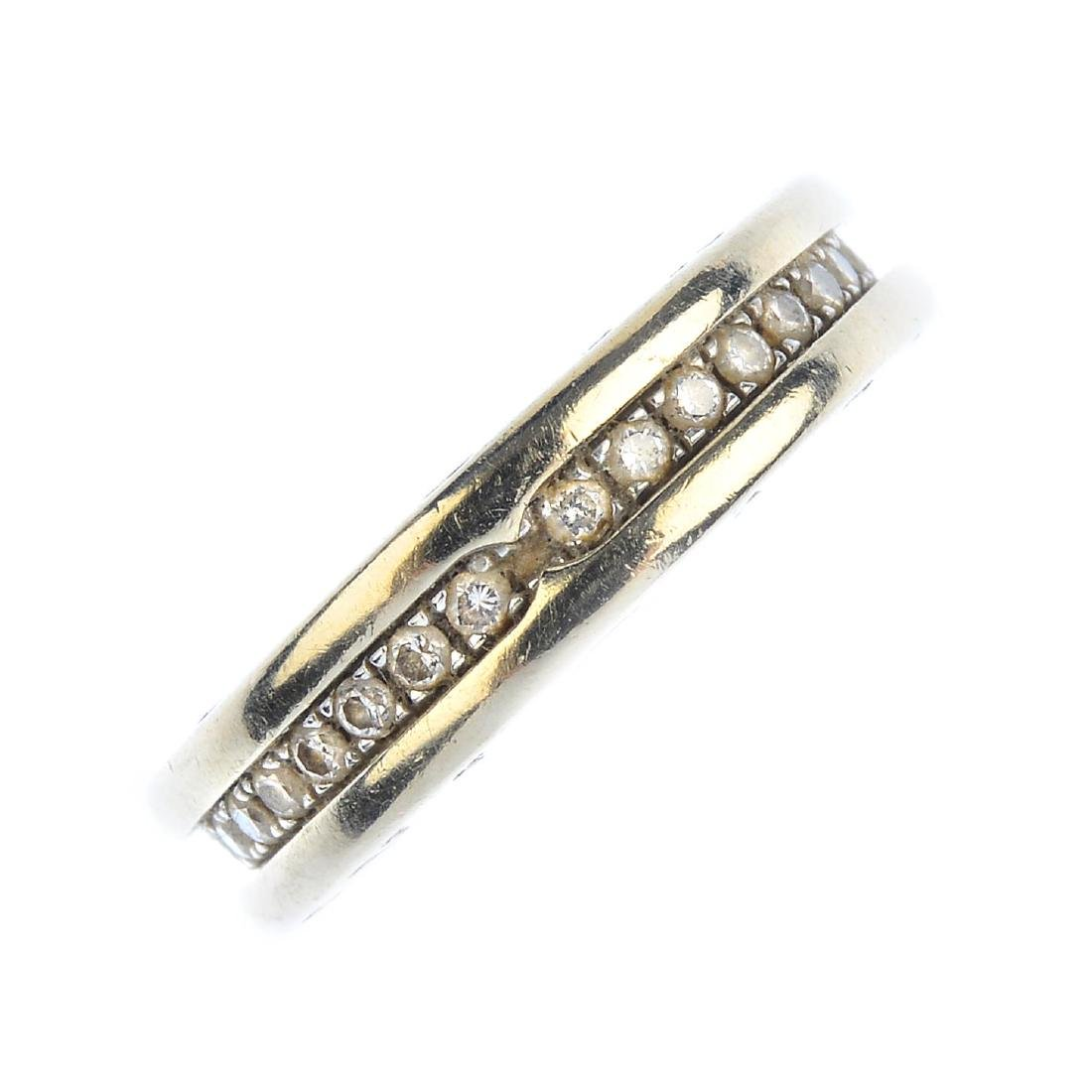 BULGARI - an 18ct gold diamond 'B.Zero1' ring. The