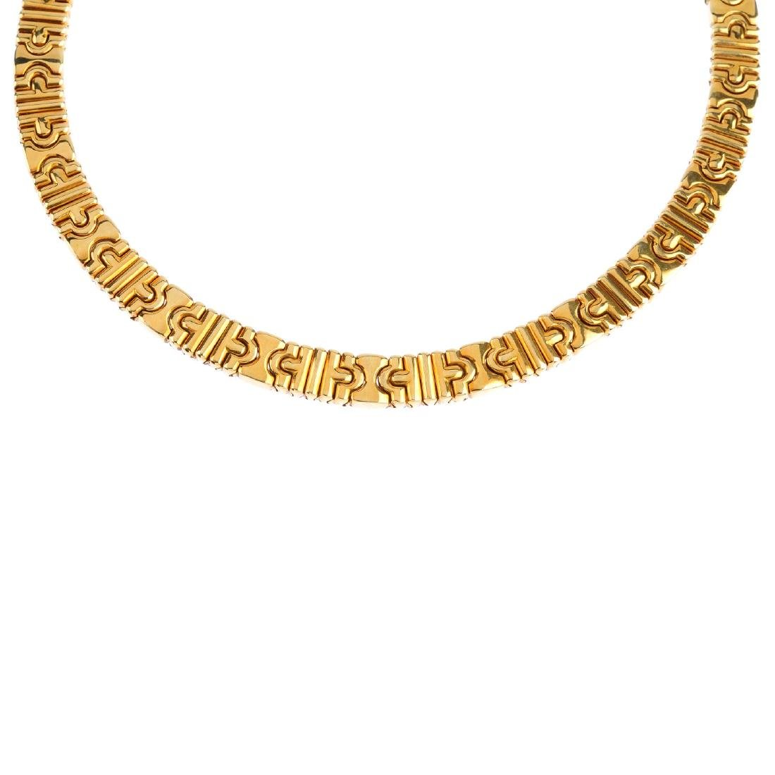 BULGARI - a 'Parentesi' collar. Designed as a geometric
