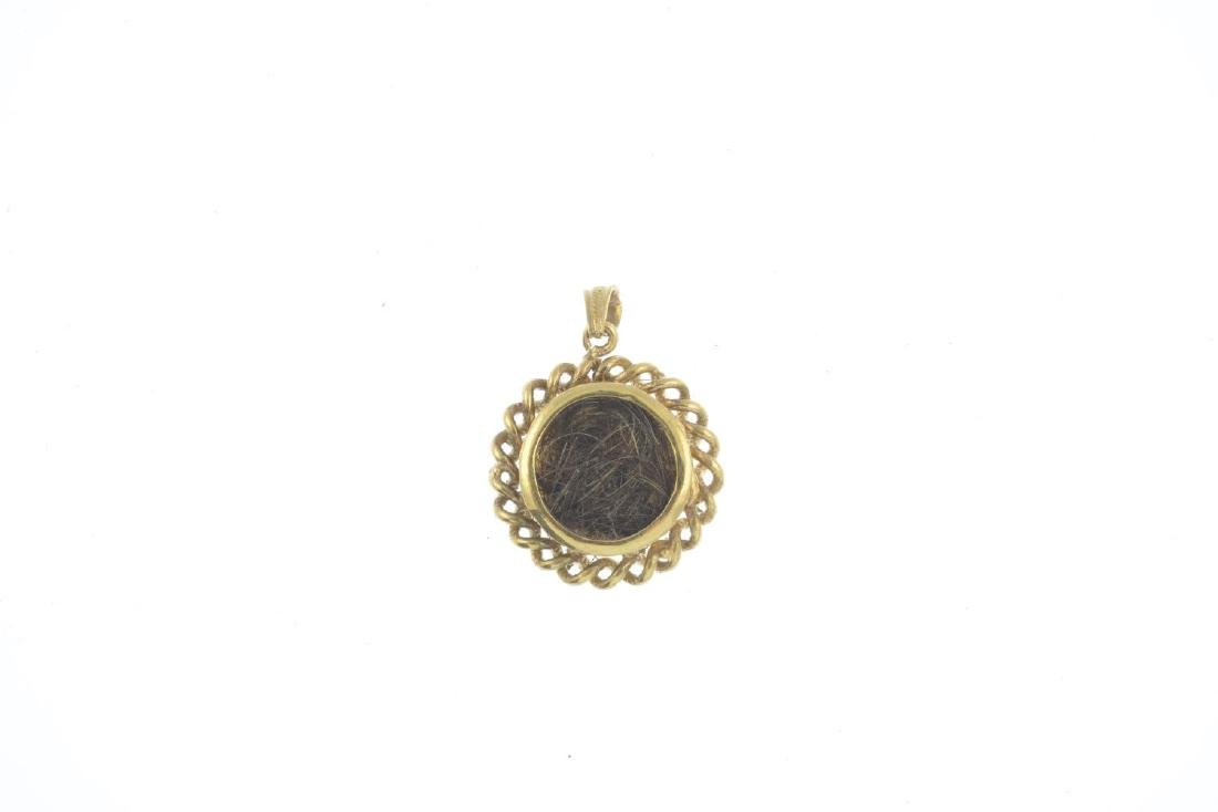 A late Victorian gold diamond and enamel pendant. Of - 2