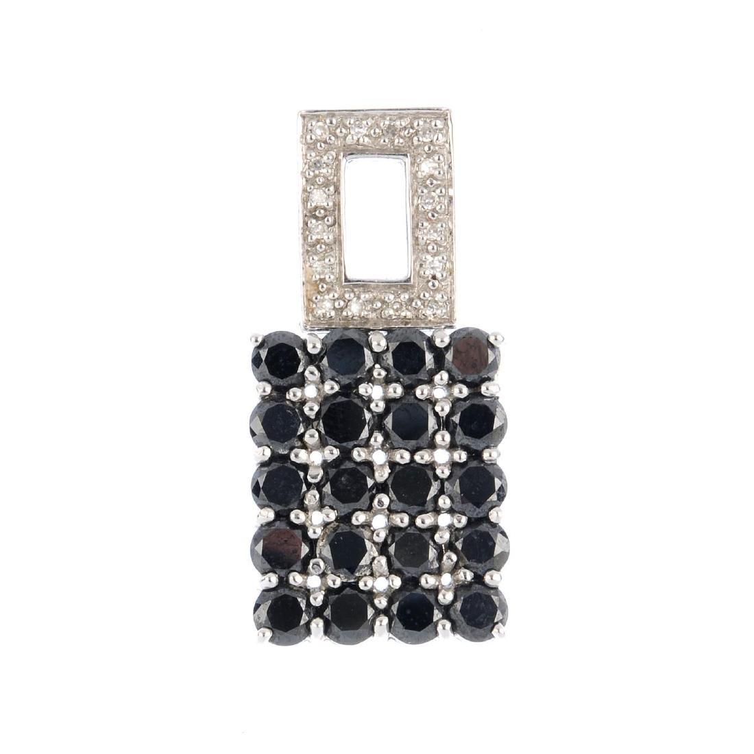 A 14ct gold diamond and gem-set pendant. Designed as a