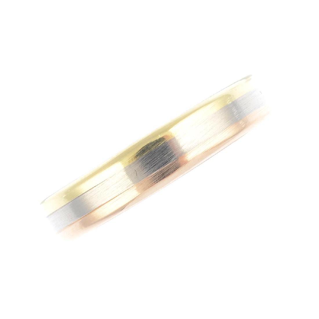 CARTIER - a 'Trinity' ring. Designed as a tri-colour