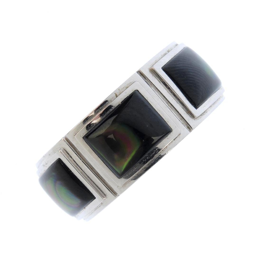 MAUBOUSSIN - a mother-of-pearl ring. Designed as three