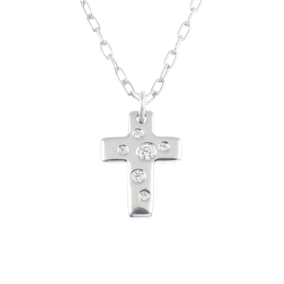 TIFFANY & CO. - a diamond 'Etoile' pendant. Designed as