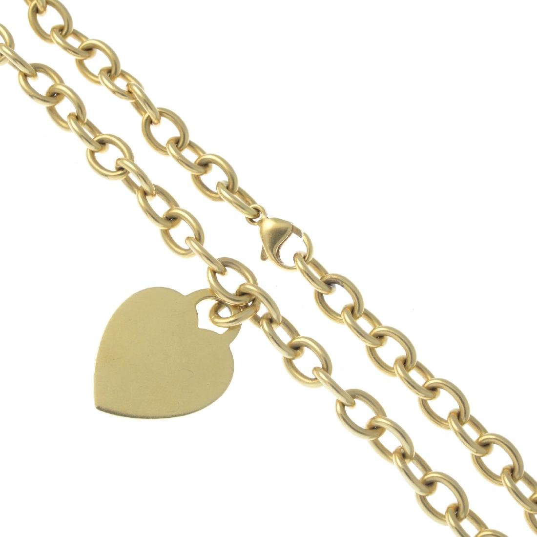 TIFFANY & CO. - a necklace. Designed as a heart-shape