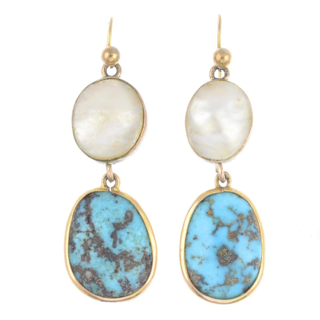 A pair of composite early 20th century turquoise and