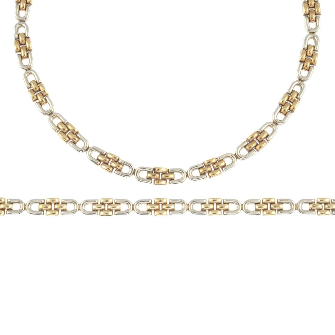 A 9ct gold necklace and bracelet. To include a