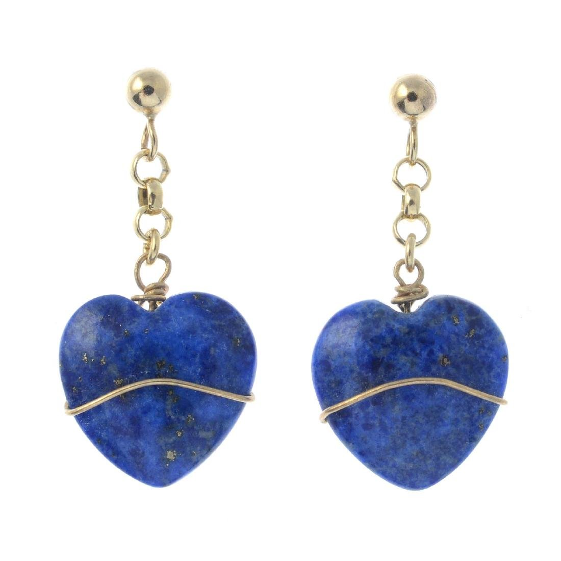 Two pairs of gem-set earrings. To include a pair of