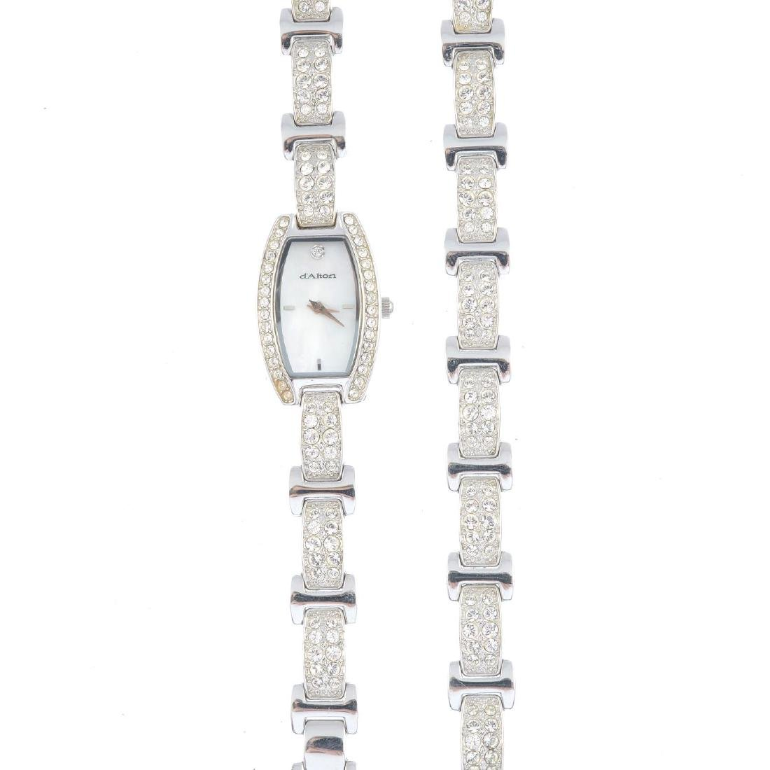 (203503) A lady's cocktail watch and matching bracelet.