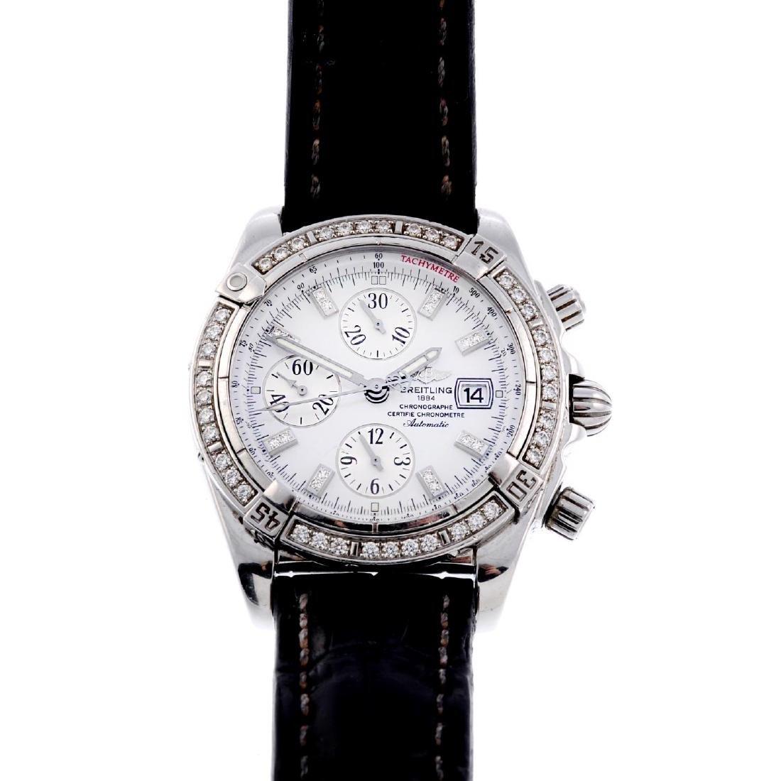 BREITLING - a gentleman's stainless steel Chronomat