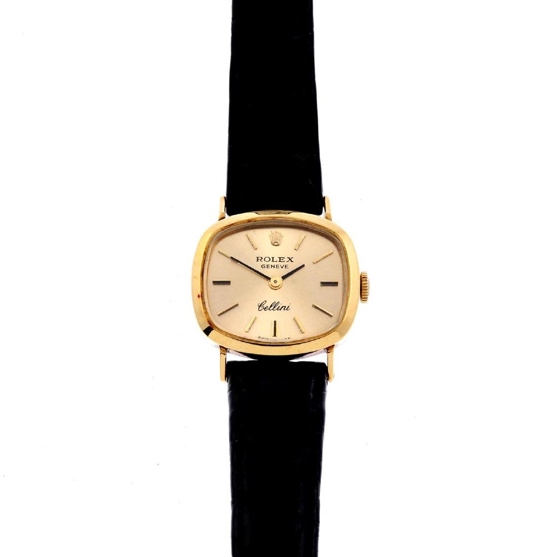 ROLEX - a lady's Cellini wrist watch. 18ct yellow gold