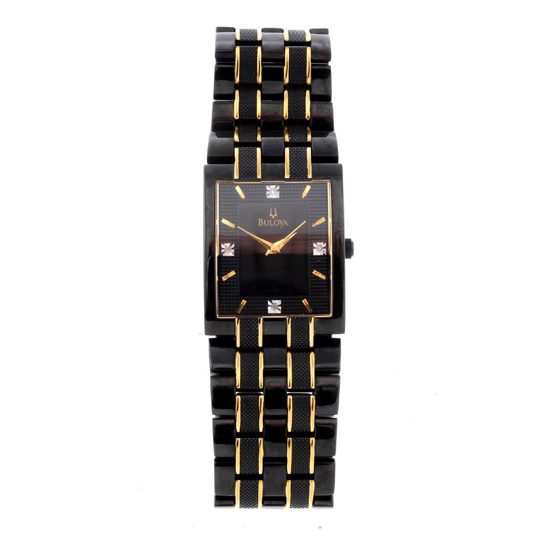 BULOVA - a gentleman's bracelet watch. PVD-treated
