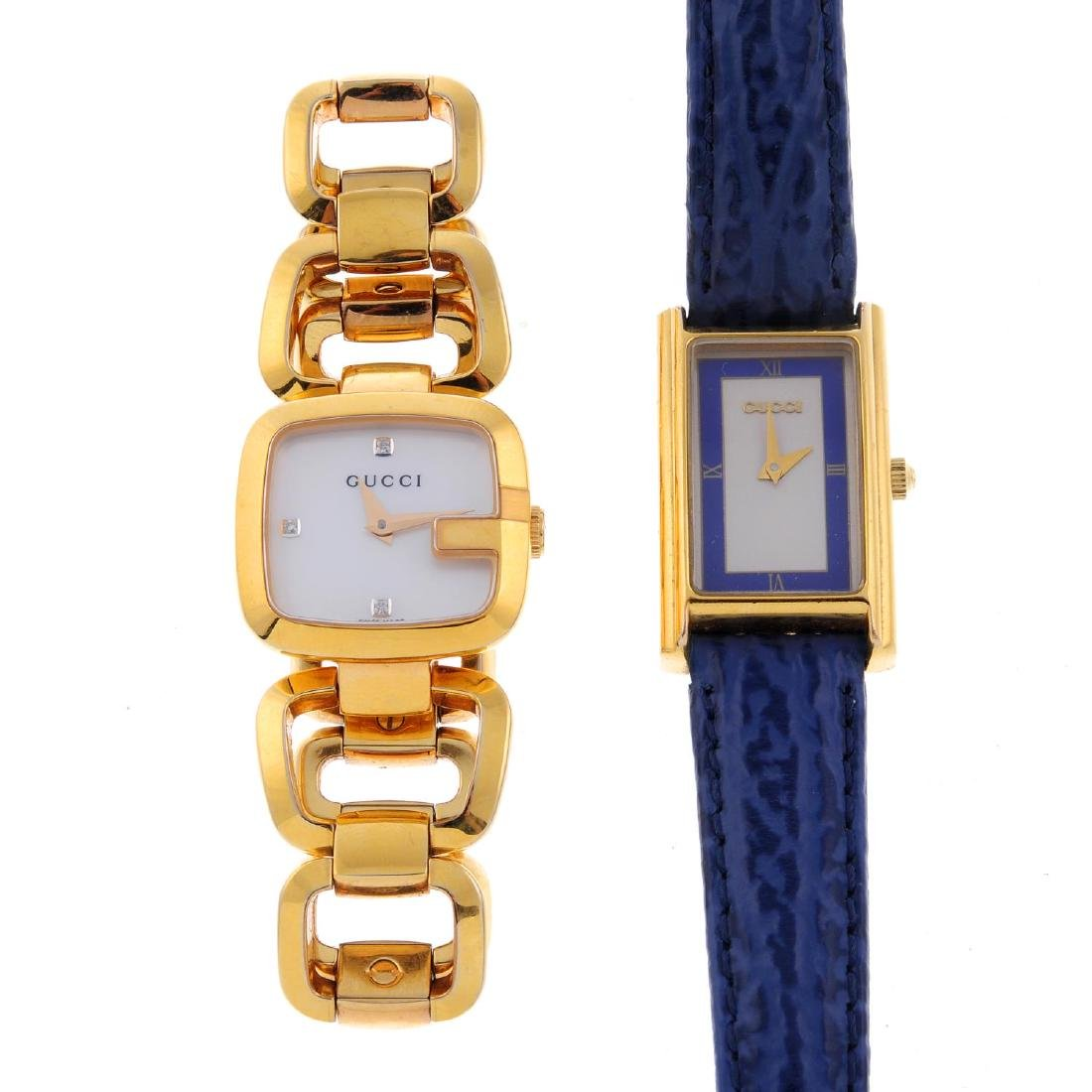 GUCCI - a lady's wrist watch. Gold plated case.