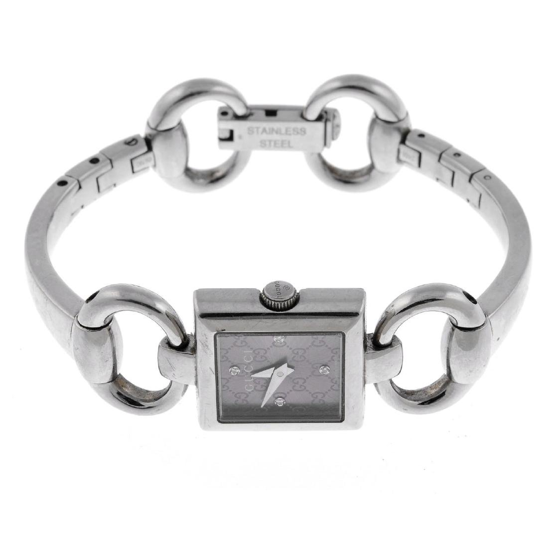GUCCI - a lady's Tornabuoni bracelet watch. Stainless