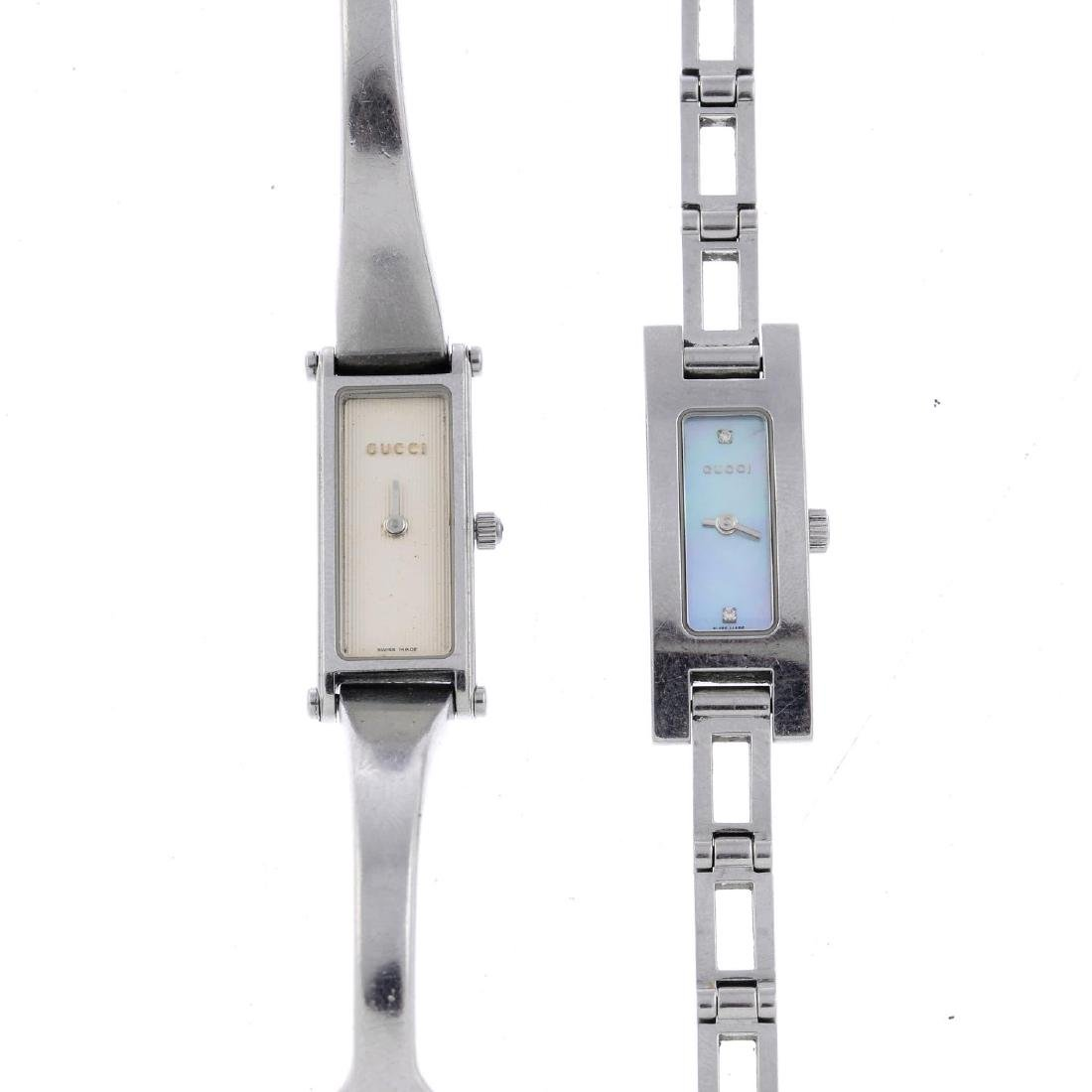 GUCCI - a lady's 3900L bracelet watch. Stainless steel