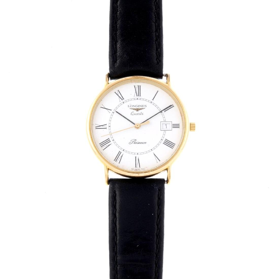 LONGINES - a gentleman's Presence wrist watch. Gold