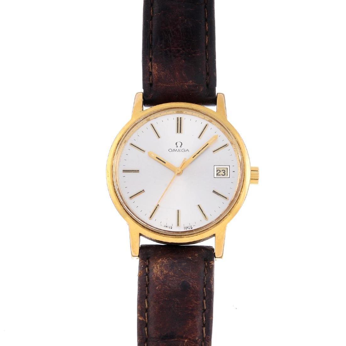OMEGA - a gentleman's wrist watch. Gold plated case