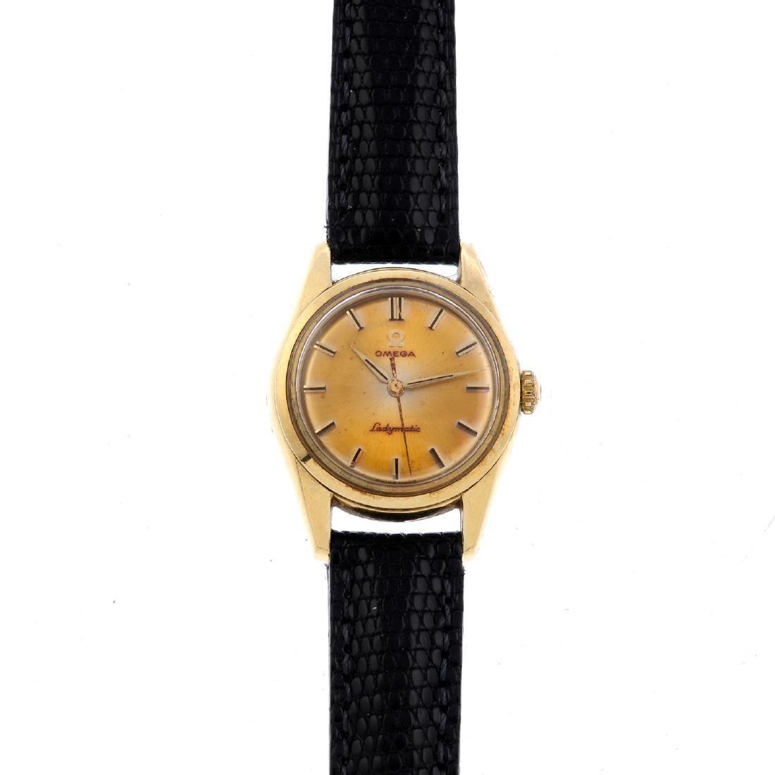 OMEGA - a lady's Ladymatic wrist watch. Gold plated
