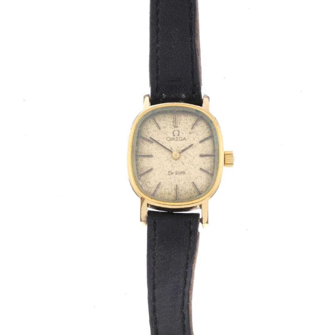 OMEGA - a lady's De Ville wrist watch. Gold plated