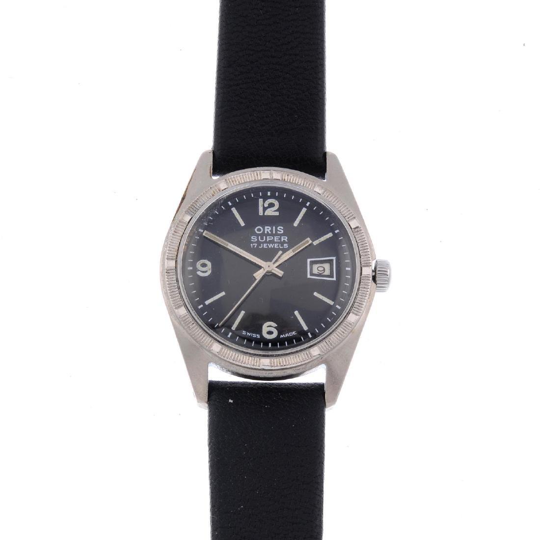 ORIS - a gentleman's Super wrist watch. Base metal case