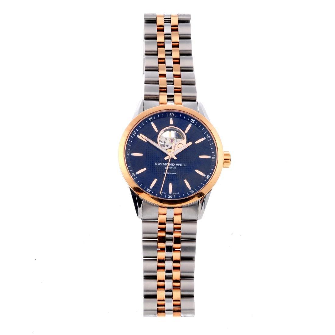 RAYMOND WEIL - a gentleman's Freelancer bracelet watch.