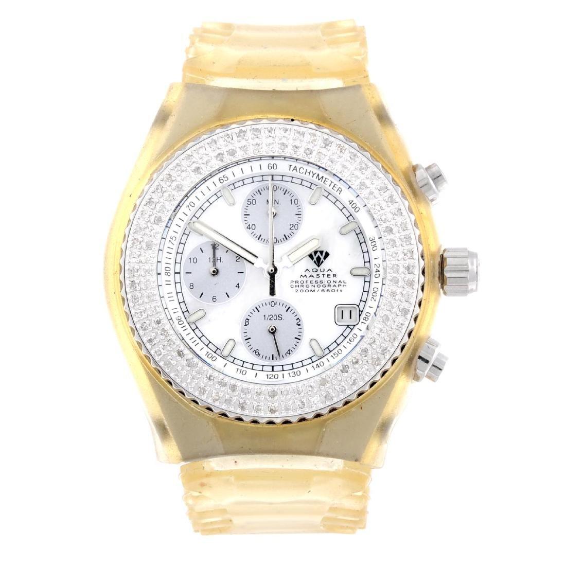 AQUA MASTER - a lady's chronograph wrist watch. Plastic