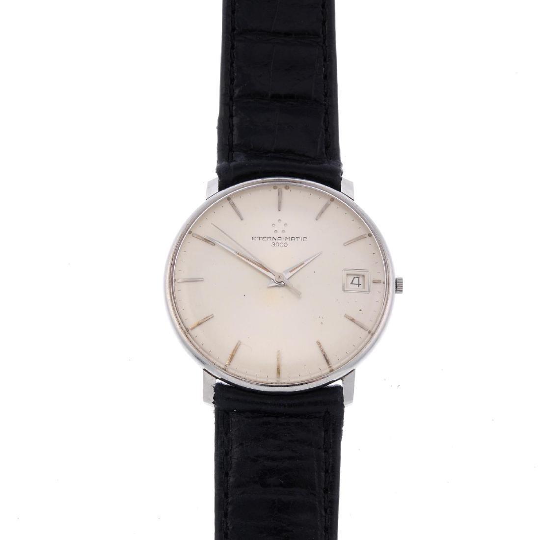 ETERNA - a gentleman's 3000 wrist watch. Stainless