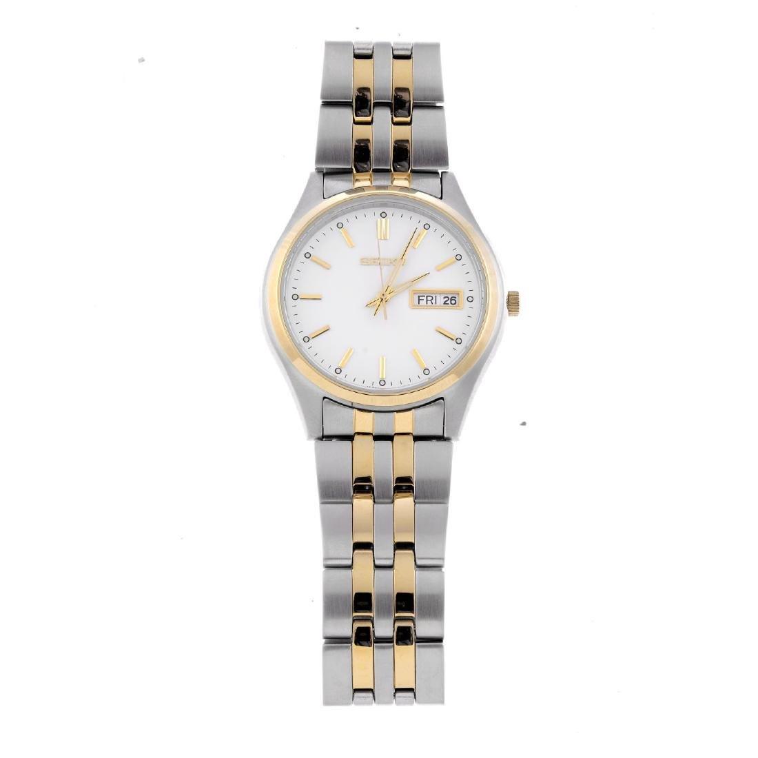 SEIKO - a gentleman's bracelet watch. Stainless steel