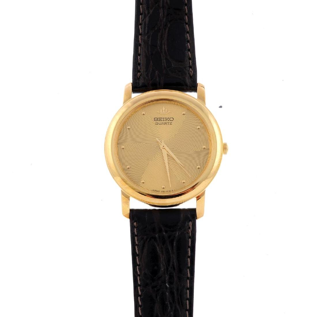 SEIKO - a gentleman's wrist watch. Gold plated case