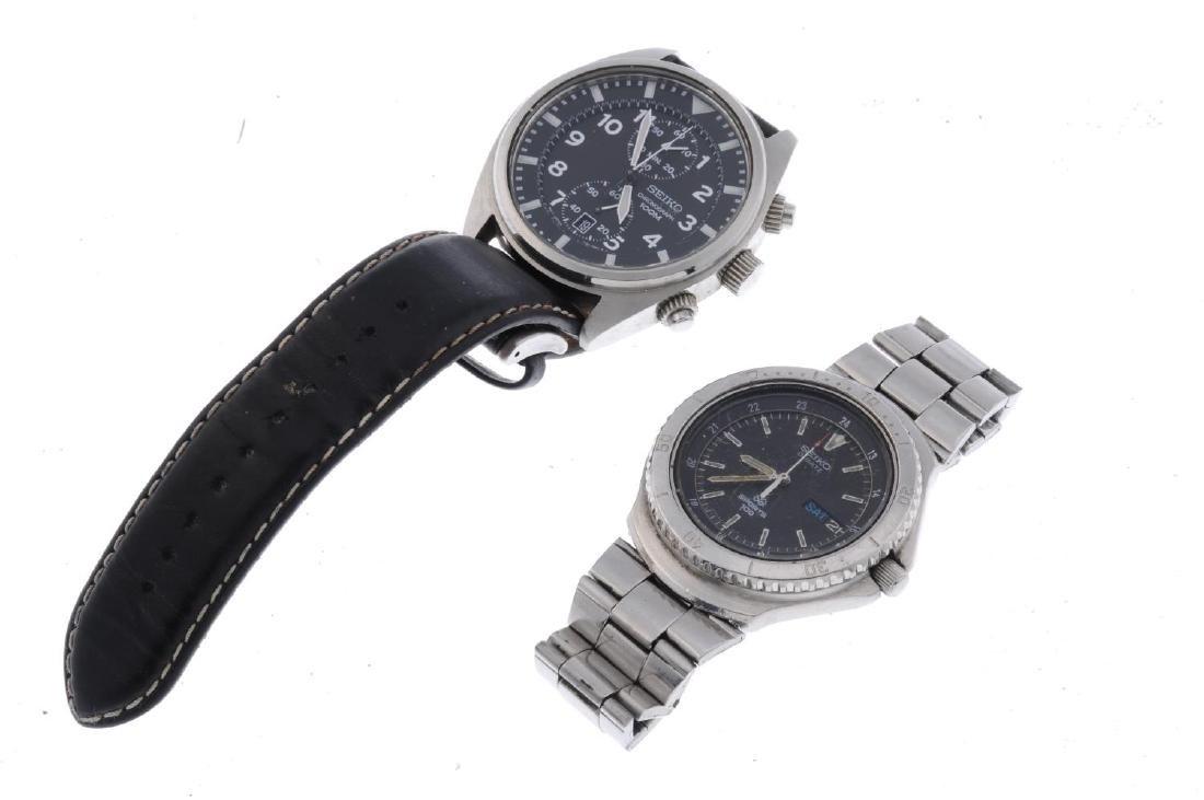 SEIKO - a gentleman's Bell-Matic bracelet watch. - 4