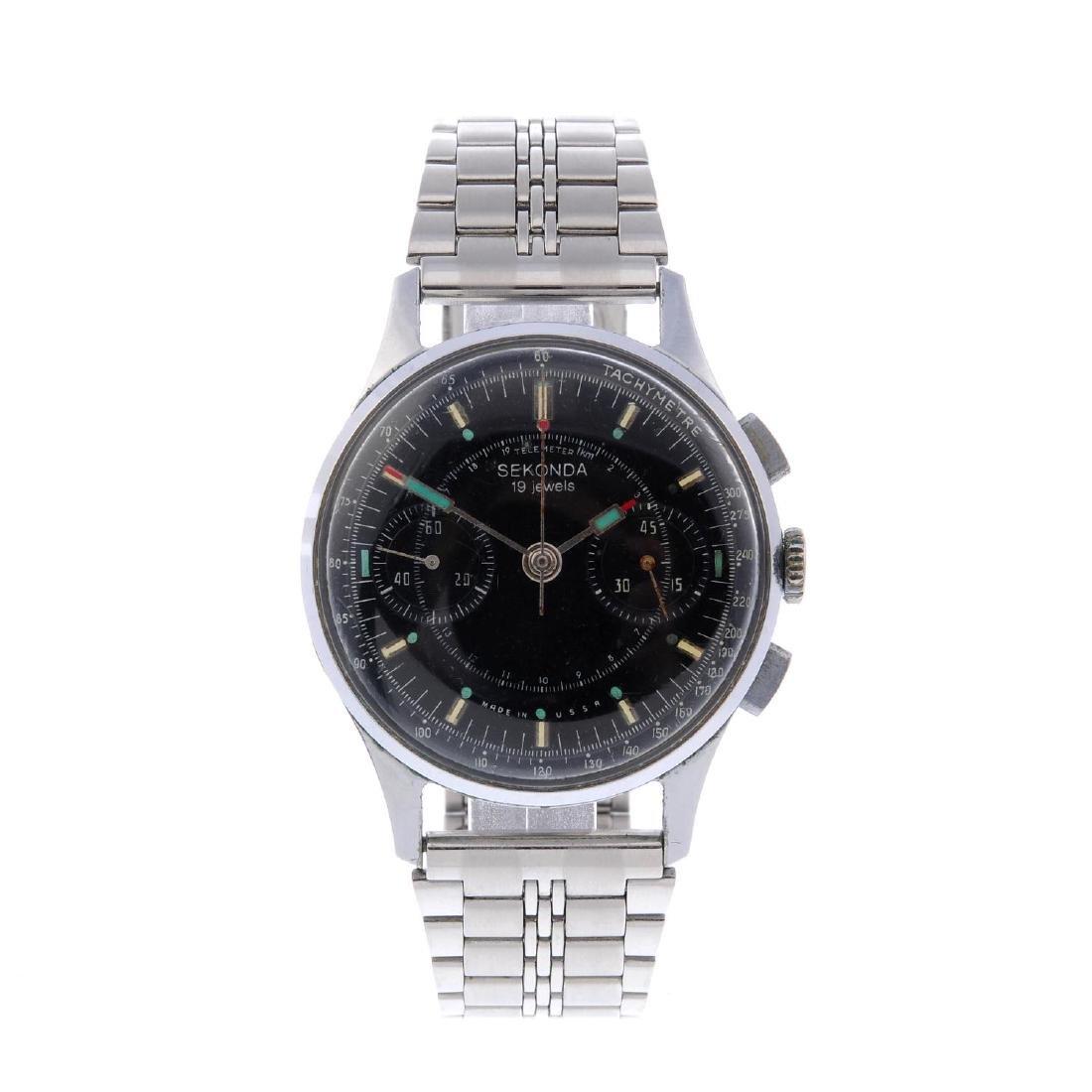 SEKONDA - a gentleman's chronograph bracelet watch.