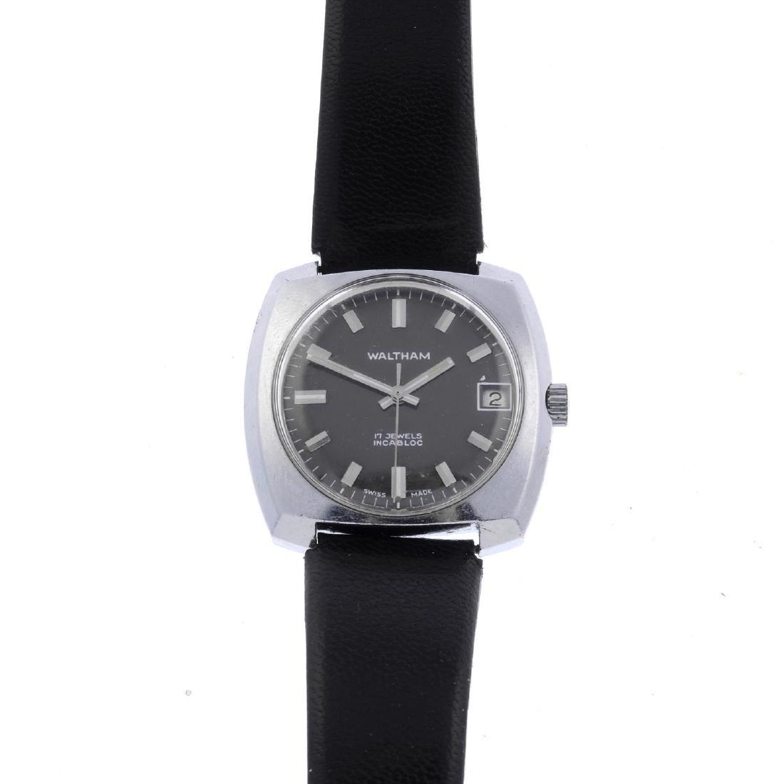 WALTHAM - a gentleman's wrist watch. Base metal case